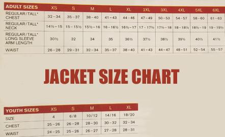 Jacket Size Chart copy